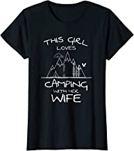 Womens This Girl Loves Camping With Her Wife Camping & Love Tshirt