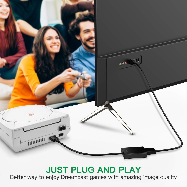 HDMI Link Cable para Sega Dreamcast, MASCARRY No-Mods Required HDMI Converter para Sega Dreamcast: Amazon.es: Videojuegos