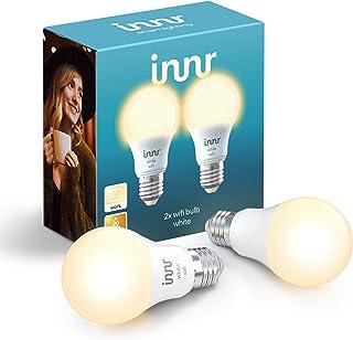 Innr WiFi E27 Bombilla LED conectada, Compatible con Alexa & Hey Google (no puente requerido) Intensidad Regulable, Luz Bl...