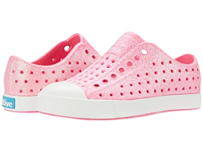 Native Kids Shoes Jefferson Bling Glitter (Toddler/Little Kid) (Floyd Pink Bling Glitter/Shell White) Girls Shoes