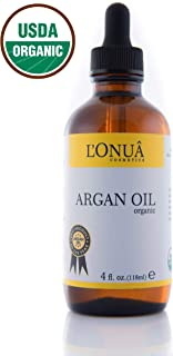 L'Onua Organic Cold Pressed Argan Oil – 4 fl oz - 100% Pure Unrefined Virgin Oil - Treatment For Dry Thinning Hair, Skin Blemishes & Cracked Nails - Natural Toner, Exfoliant & Conditioner