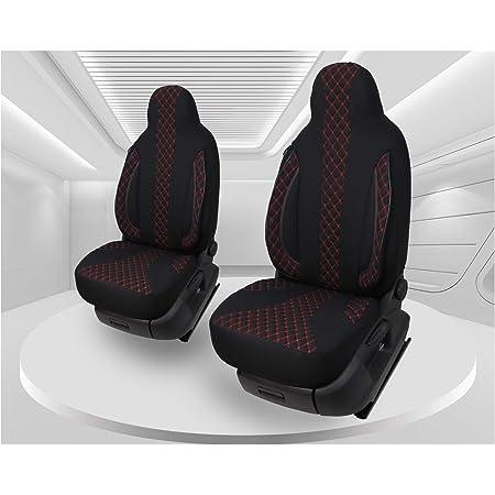 Maß Sitzbezüge Kompatibel Mit Fiat Ducato Typ 250 Bj Ab 2006 Fahrer Beifahrer Fb Pl401 Schwarz Grau Baby