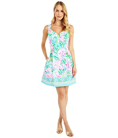Lilly Pulitzer Linnet Stretch Dress (Multi Totally Blossom Engineered Woven) Women