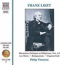 Liszt: Harmonies Poetiques Et Religieuses Nos. 1-6 (Liszt Complete Piano Music, Vol. 3)