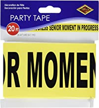 Beistle Senior Moment in Progress Party Tape 3 x 20 (Three-Pack)