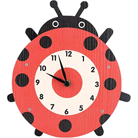cuisine salon ISAOA Horloge murale moderne et silencieuse avec motif grenouille vert joyeux avec grand /œil horloge de bureau ronde pour chambre /à coucher enfants