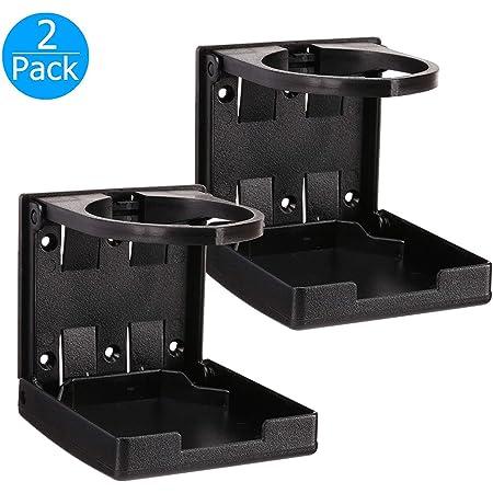 Black 4-pack EEEkit Universal Adjustable Folding Cup Drink Holder Car TRUCK BOAT VAN Home Plastic 99mm