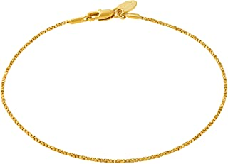 Twisted Box Chain Anklet for Women & Men 24k Real Gold...