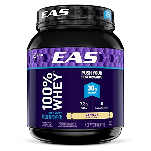 EAS 100% Pure Whey Protein Powder, Vanilla, 2 lb (Packaging May Vary