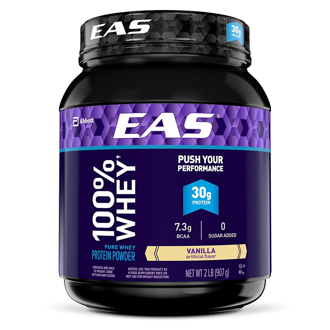EAS 100% Pure Whey Protein Powder, Vanilla, 2 lb (Packaging May Vary)