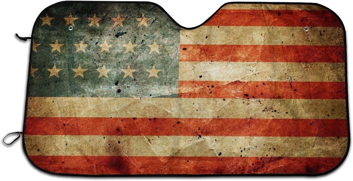 Popular brand American Flag Car Windshield Curtains Sun Rays Shade Uv Washington Mall Blocks
