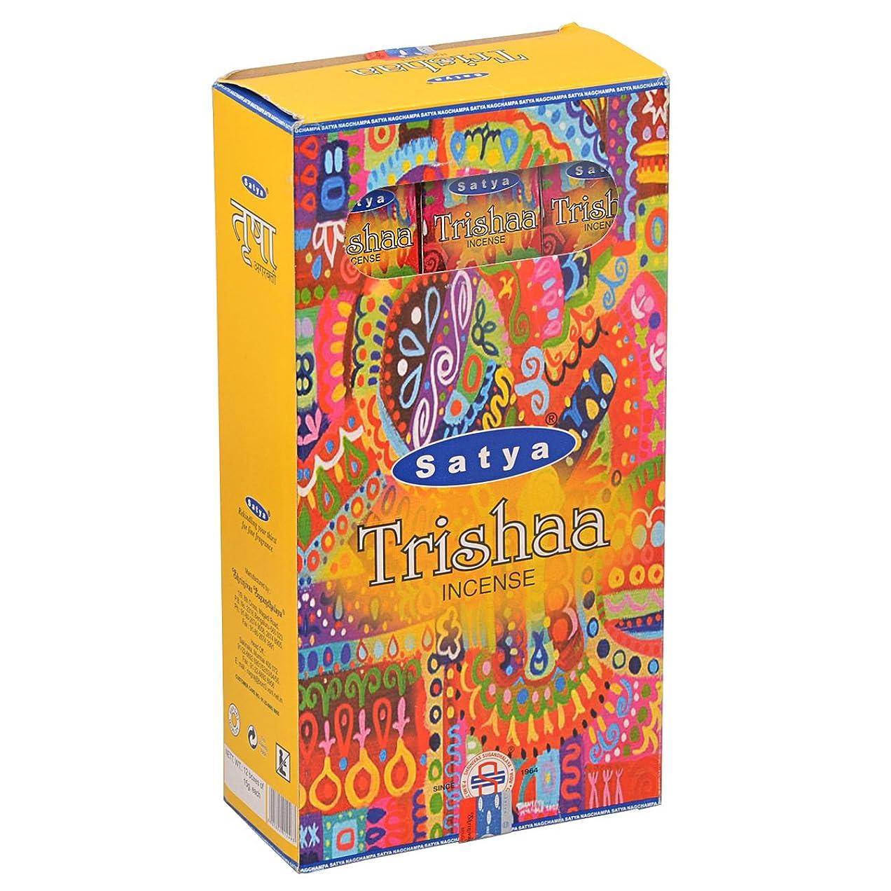 リング険しいいっぱいSATYA(サティヤ) トリシャー Trishaa スティックタイプ お香 12箱 セット [並行輸入品]