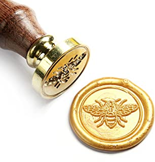 UNIQOOO Cute Little Bee Wax Seal Stamp- Great for Decoration of Envelopes, Thank You Cards, Invitations, Letter Sealing Gift Wrapping, DIY Project- Gift Ideas for Artistic Types, Bee Collectors