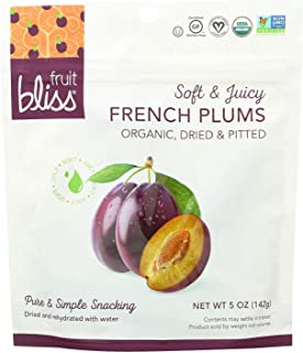 Fruit Bliss Organic Dried Plums, 5 Ounce - 6 per case.