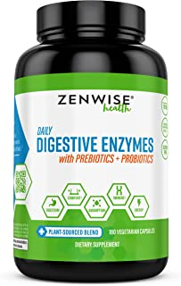 Zenwise Health, Plant Sourced Blend Daily Digestive Enzymes, 180 Capsules