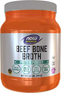 NOW Sports Beef Bone Broth Protein Poweder 1.2Lbs