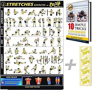Eazy How To Stretch affisch träning träning stor 51 x 73 cm öka flexibiliteten, förlorar muskler, förhindrar skador hemma ...