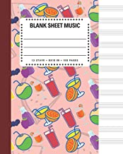 Blank Sheet Music: Juicing Drink Health Cover 8x10