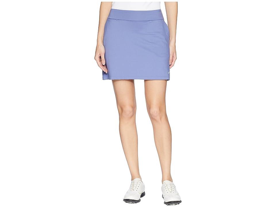 Nike Golf Dry Skort Knit 16.5 (Purple Slate/Flat Silver) Women