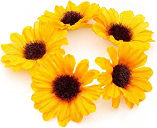 Yellow Sunflower Hair Bun Garland Scrunchie Elastic by Pritties Accessories