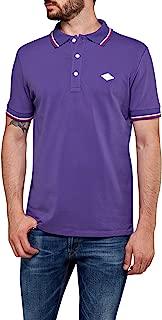 Replay Men's Striped Stretch Cotton Pique Polo T-Shirt