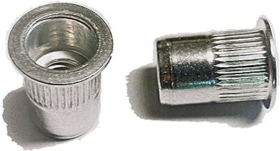 25 pcs 1/4-20 flat head ribbed body aluminum rivet nuts LFA-14165R … …
