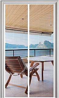 YUFER Magnetic Screen Door 36×80 Fiberglass Mesh Curtain Door Screen with Full Frame Hook&Loop - Fits Door Size 36x80 Inch Max,White
