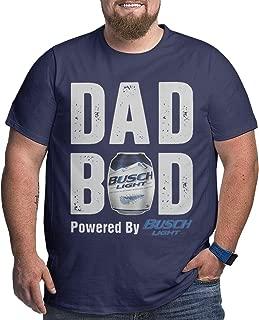 Dad BOD Powered by Busch Light Big Size Men T-Shirt Heavy Navy