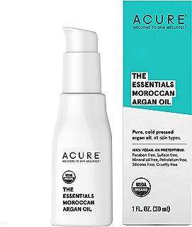 Acure The Essentials Moroccan Argan Oil | 100% Vegan | Versatile - For Any Skin & Hair Care Regimen | Pure, Cold Pressed &...