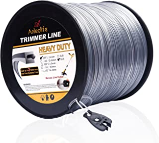Anleolife 5-Pound Heavy Duty Square .095-Inch-by-1280-ft String Trimmer Line in Spool, with Bonus Line Cutter