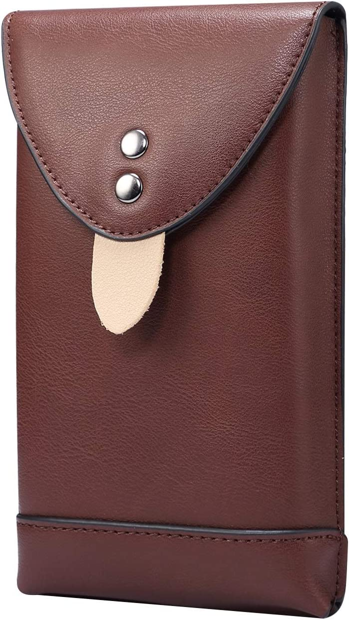 SZCINSEN Leather Cellphone Pouch Holster for Samsung Galaxy S20 Ultra, S21 Ultra 5G,S21+ 5G,A71 5G, Note 20 Ultra,Mens Waist Pack with Carabiner Clips for Travel (6.9 inch) (Color : Coffee)