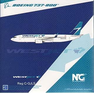 NG Model NGM58025 1:400 WestJet Boeing 737-800(W) Reg #C-GJLS (pre-Painted/pre-Built)