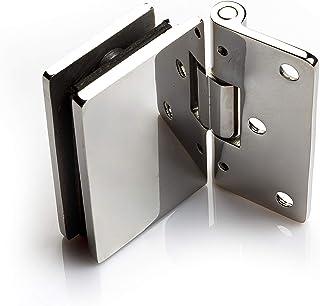 Bisagras para mampara de ducha | Manija de puerta de ducha perfecta para pantallas de cristal | Pared | Mamparas de ducha: Amazon.es: Bricolaje y herramientas