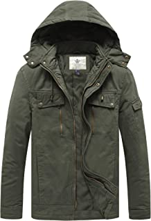 Men's Warm Zip Pocket Cotton Quilted Jacket with Hood