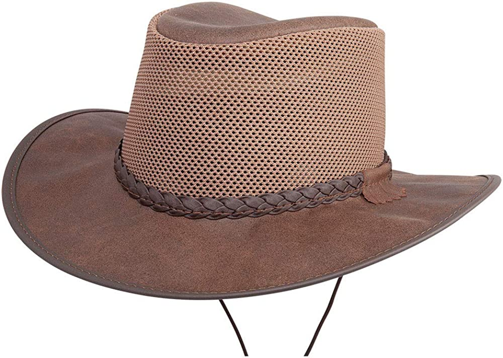 American Hat Makers Breeze, Leather and Mesh Outdoor Sun Hat