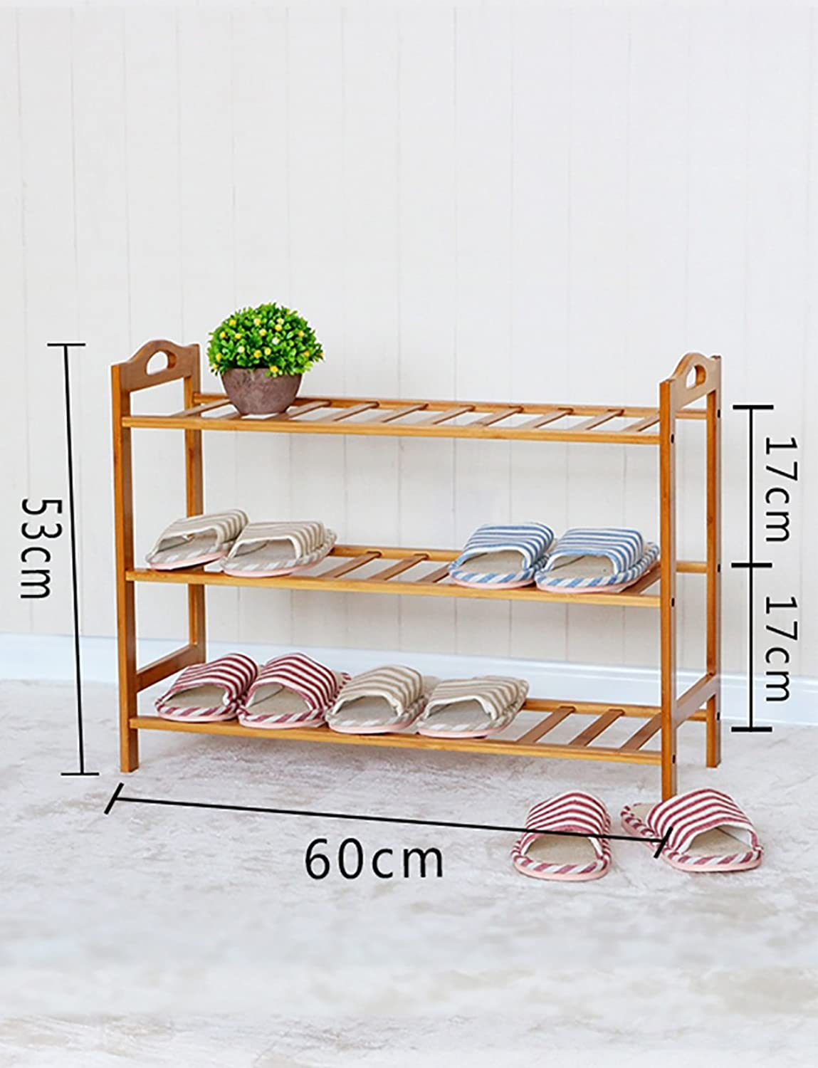 shoes Bench Organizing Rack Nanzhu Small shoes Rack Multi - Storey shoes Cabinet Solid Wood Storage shoes Rack j Simple Modern Assembly Living Room shoes Rack (Size   60cm)