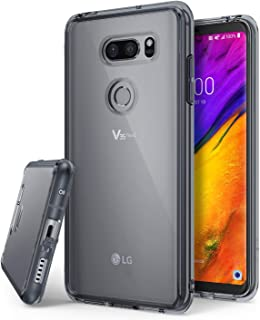 Ringke Fusion Compatible with LG V35 ThinQ Case, Scratch Protection Phone Cover for LG V35 ThinQ - Smoke Black