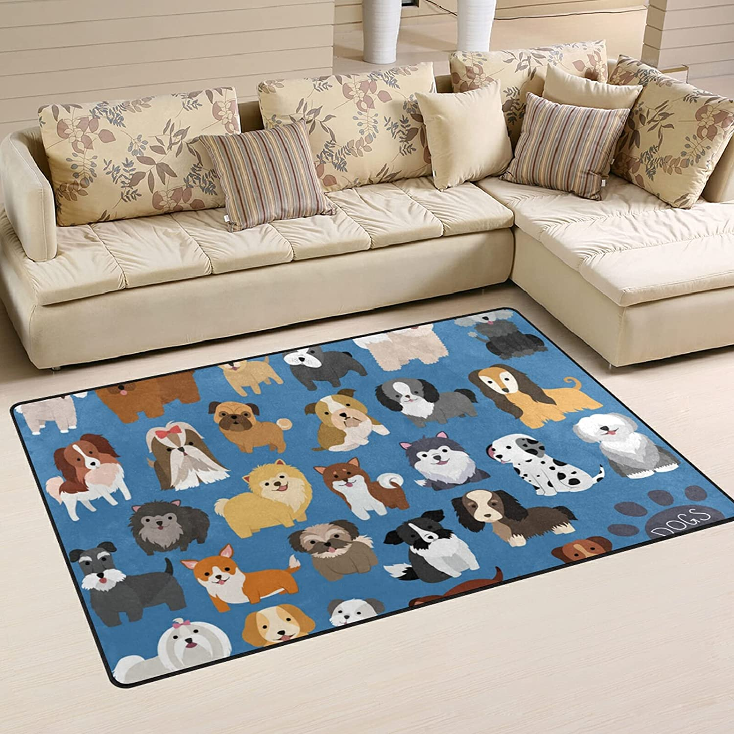 Cute Puppy Dog Large Soft Dallas Mall Area Mat Nursery Rugs Playmat for Rug Max 87% OFF