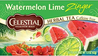 Celestial Seasonings Herbal Tea, Watermelon Lime Zinger, 20 Count (Pack of 6)
