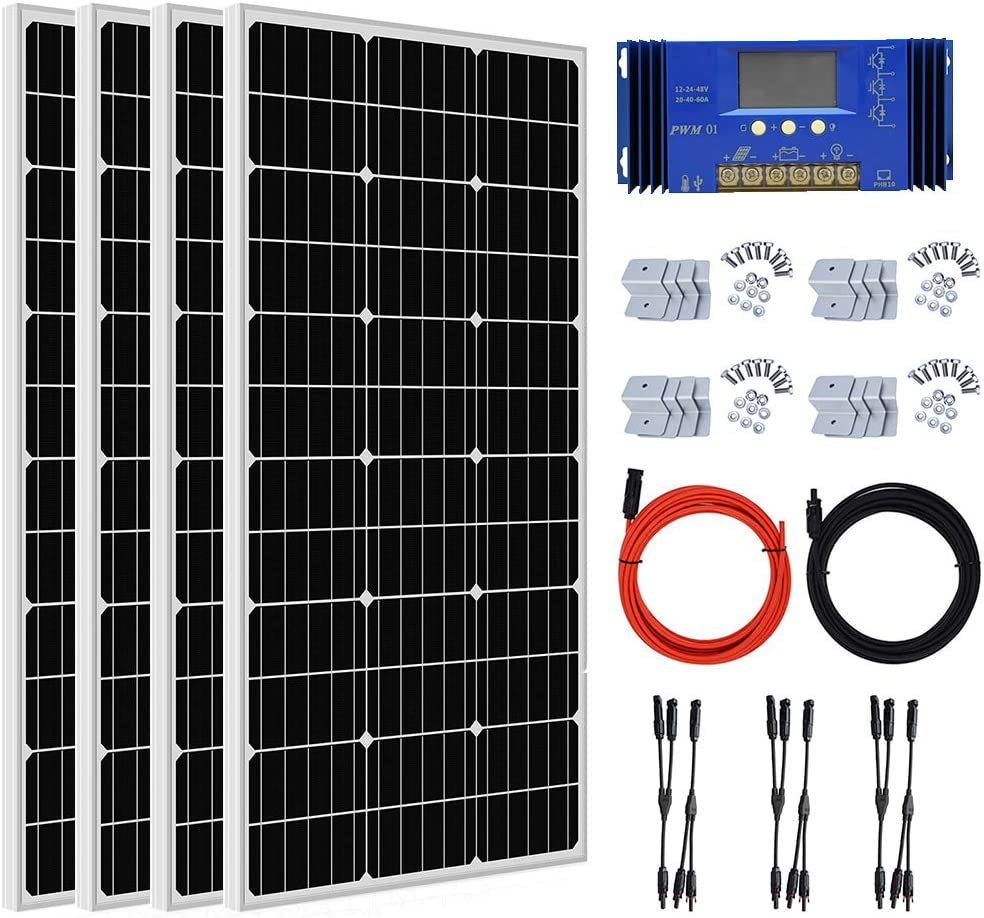 ECO-WORTHY 400 Watt Solar Panel Spring new work one after another Kit Off + Grid Mail order cheap with Panels