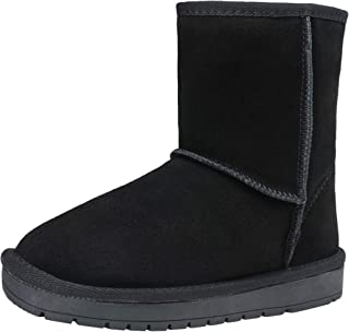 Women's Leather Suede Boots Short Ankle Warm Winter Snow Booties
