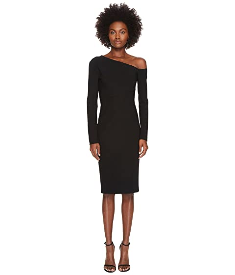 YIGAL AZROUËL 3/4 Sleeve One Shoulder Fitted Dress