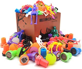 72 Pieces Halloween Party Favors for Kids,Halloween Toys Sets and School Classroom Rewards,Treasure Halloween Box Prizes