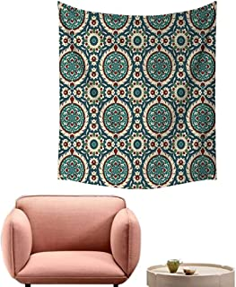 alsohome Tapestry Blanket Hanging Tapestry for Bedroom Mod Graphic Design of Classic Ancient Eastern Art Patterns in Retro Nostalgic 60