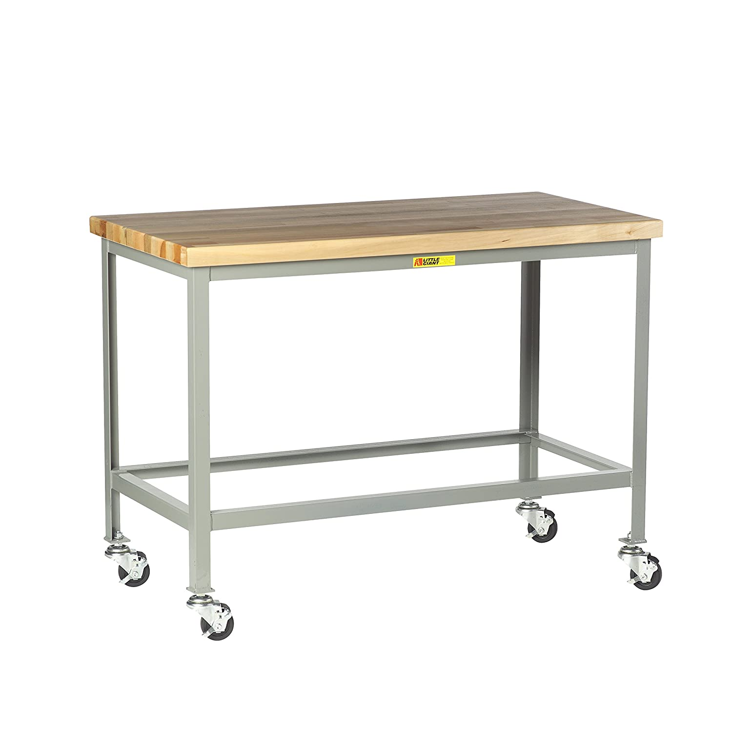 Little Giant WT-3048-3R Steel Max 82% OFF Mobile Top 1 Butcher Block Tables low-pricing