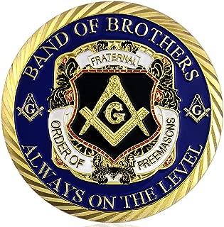 Masonic Challenge Coin Master Mason Freemason Brotherhood Gifts Gold Plated - Always On The Level