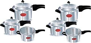 Lifelong Pressure Cooker Outer Lid Combo, 2 Litre, 3 Litre & 5 Litre (ISI Certified, Induction and G + Lifelong Pressure Cooker Outer Lid Combo, 2 Litre, 3 Litre & 5 Litre (ISI)