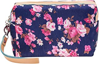 Washable And Durable, Navy Blue Nylon Beauty And Make Up Cosmetics Pouch / Bag / Case for Makeup Utensils And Toiletries By VAGA