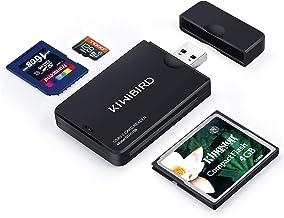 KiWiBiRD USB 3.0 (3.1 Gen 1) Lector Tarjetas de Alta Velocidad 9-in-1 para CF Compact Flash (UDMA), SD, SDHC, SDXC, Micro SD, Micro SDHC, Micro SDXC [Compatible con tarjetas UHS-I] – Negro
