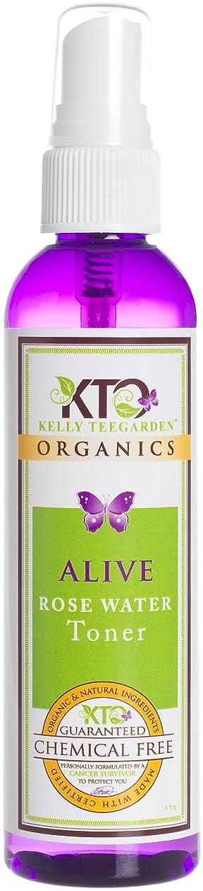 ただネックレット無関心Kelly Teegarden Organics アライブローズトナー、4 OZ